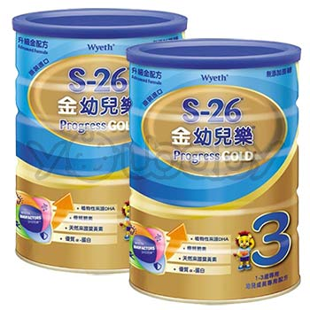 惠氏 S-26 金幼兒樂 1600g (兩罐入) - 先進新配方
