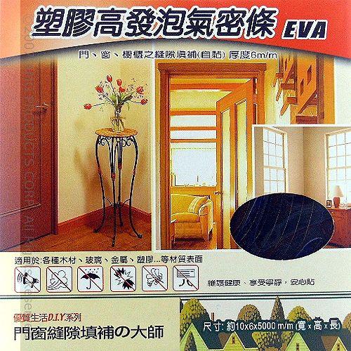 《門縫填補大師》塑膠高發泡氣密條-2盒裝