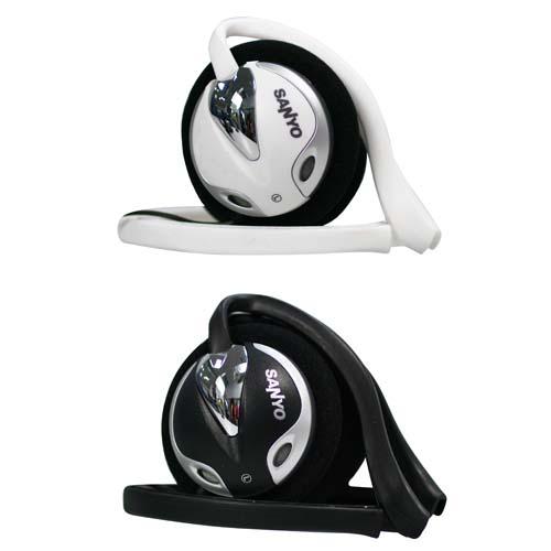 SANYO頭戴式耳機麥克風ERP-M14(黑/白)