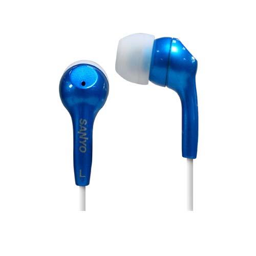 三洋耳道式耳機2入 ERP-12(紅/藍/灰)
