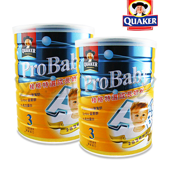 桂格 QUAKER 特選成長奶粉-新一代藻精蛋白配方1.5kg/罐x2入