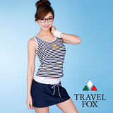 【TRAVELFOX 旅狐】海軍風長版三件式泳衣C8726