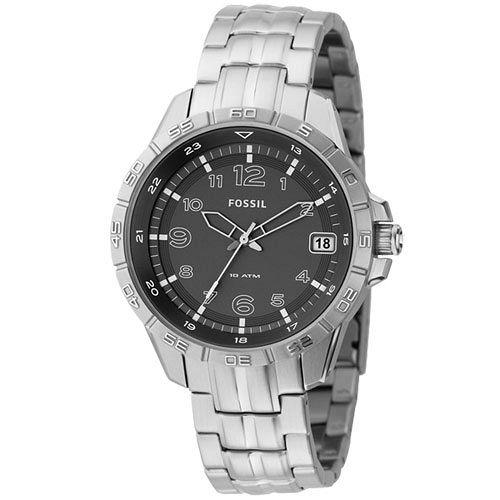 【FOSSIL】簡約時光腕錶(灰)