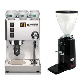 RANCILIO MISS Silvia 半自動咖啡機(HG6473)+500N磨豆機-黑(HG0140)