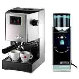 義大利GAGGIA CLASSIC 半自動專業咖啡機+ROCKYS 無分器磨豆機 (HG0195+HG6459)