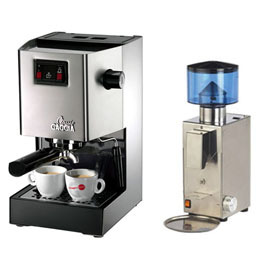 義大利GAGGIA CLASSIC專業半自動咖啡機+BEZZERA BB005 AT 錐刀定量磨豆機 (HG0195+HG0972)