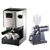 義大利GAGGIA CLASSIC 專業半自動咖啡機+Tiamo 半磅義式專用磨豆機 (HG0195+HG0086+AK91249)
