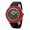 Folli Follie 摩登時空玻麗時尚腕錶(紅)