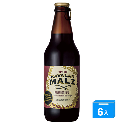 金車KAVALAN噶瑪蘭麥汁330ml~6瓶