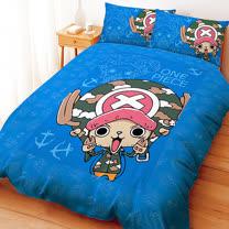 【享夢城堡】航海王 喬巴GOGOGO系列-雙人枕套床包組