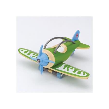 德國Hape愛培收藏系列-綠林竹製飛機