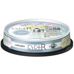 三菱 櫻花五彩版DVD+R 16X燒錄片(10片)