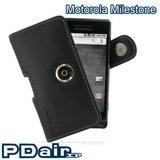 Motorola Milestone 專用PDair高質感腰掛橫式PDA手機皮套