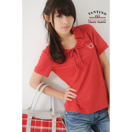 【FANTINO】女款 特殊纖維甜美感柔軟棉衫(紅) 071105