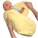 美國 Summer Infant SwaddleMe【刷毛絨布厚款 - 黃色】, 小號 - 可調式懶人包巾