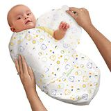 美國 Summer Infant SwaddleMe【純棉薄款 - 小熊】, 小號 - 可調式懶人包巾