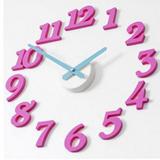 韓國進口正品 DIY Wallclock時鐘掛鐘--粉紅款