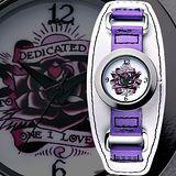 【Ed Hardy】獻給我的愛玫瑰刺青錶