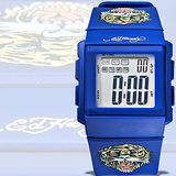 【Ed Hardy】猛虎吼刺青圖電子錶