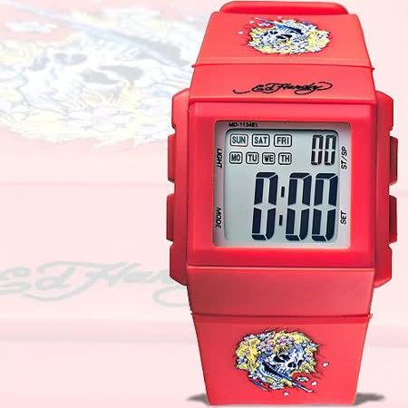 【Ed Hardy】美麗幽魂刺青電子錶