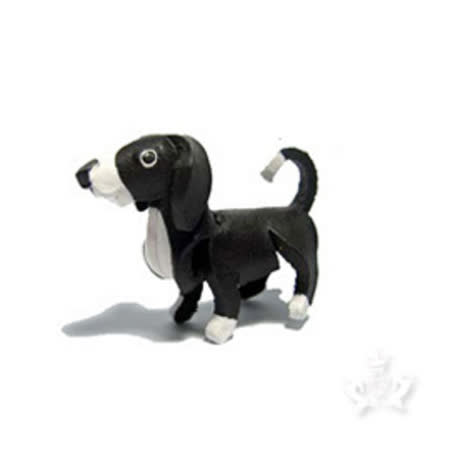 Docky-精工真皮-邊境牧羊犬鑰匙圈