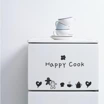 【Design W 創意壁貼】時尚家飾 Happy cook