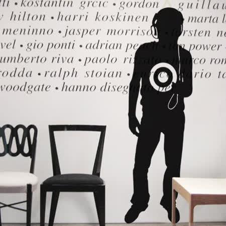 【Design W 創意壁貼】時尚家飾 Cool boy