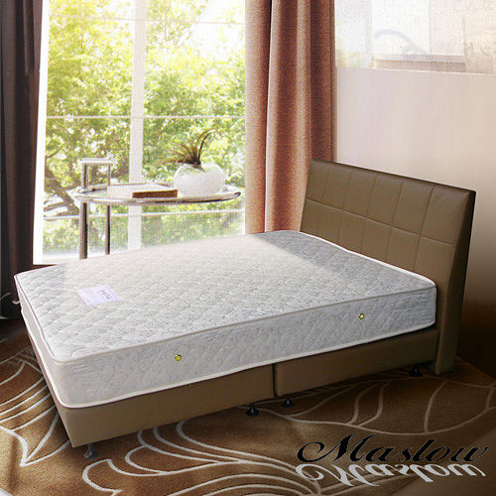 【Maslow-時尚皮製】單人床組-3.5尺(不含床墊)-咖啡