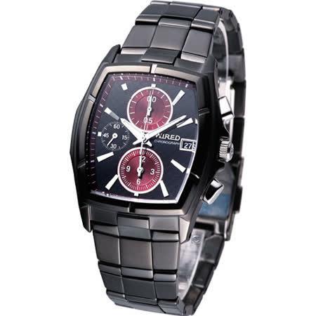 ALBA WIRED 東京時尚 計時腕錶7T92-X134R 紅AF8P45X