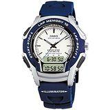 CASIO 越野戰士運動雙顯錶(藍色錶帶)