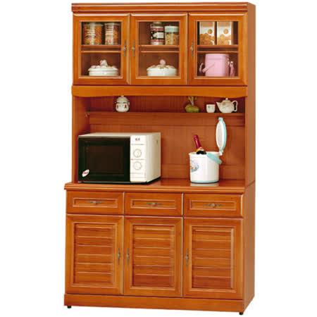 Homelike 樟木4尺廚房收納櫃