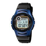 CASIO 酷炫電小子膠帶運動錶(藍)