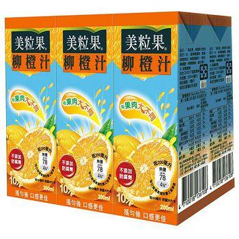 美粒果柳橙汁200ml*6入