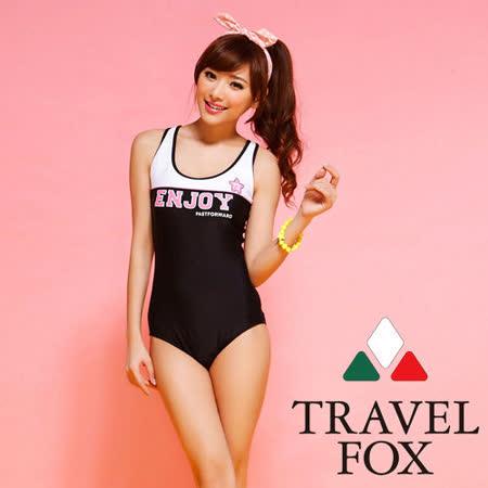 【TRAVELFOX 旅狐】校園風連身三角泳衣C0704