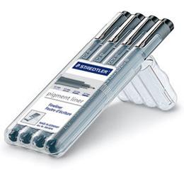 STAEDTLER MS308WP4 防乾耐水性 代針筆(4支組 / 盒)