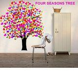 【ORIENTAL創意壁貼】 Four seasons tree