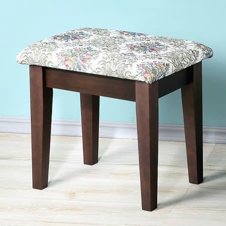 ~Homelike~新古典化妝椅^(胡桃色^)