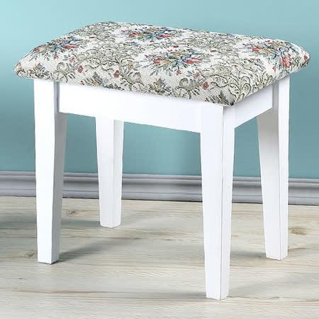 《Homelike》新古典化妝椅(純白色)