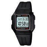 CASIO 都會魅力休閒電子錶(銀框)