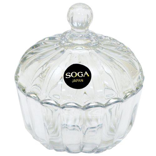 ~ ~ SOGA玻璃條紋小罐^(Z116W^)