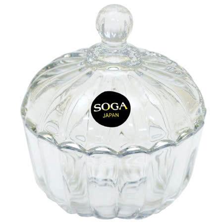 【任選】日本SOGA玻璃條紋小罐(Z116W)