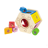 德國Hape愛傑卡-六角分類積木盒