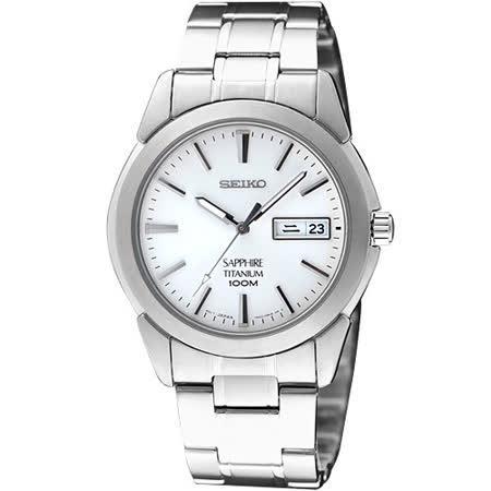 SEIKO 鈦王子超薄都會時尚腕錶(7N43-0AS0S)-白