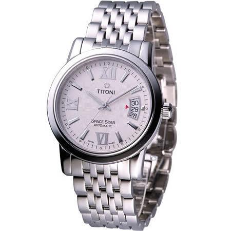 TITONI Spacestar 世紀之星機械腕錶83738SB-342