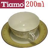 Tiamo J09-30GD春平骨瓷咖啡杯盤組2客 HG3210