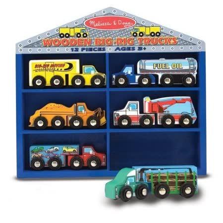 美國 Melissa & Doug 木製貨櫃車玩具組