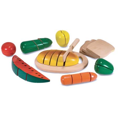 美國 Melissa & Doug木製玩食趣 -【切食物】玩具組