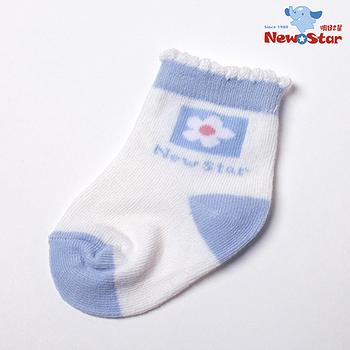 【聖哥-明日之星Newstar】MIT超可愛寶寶嬰兒棉襪-9cm-藍-粉紅(2雙入)-好穿親膚-柔軟推薦-媽咪推薦!
