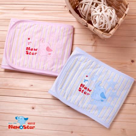 【聖哥-明日之星Newstar】MIT100%棉嬰幼兒四季肚圍-柔軟鋪棉-S-媽咪推薦超實用-一定入手好用單品-真材實料-藍-粉-條紋