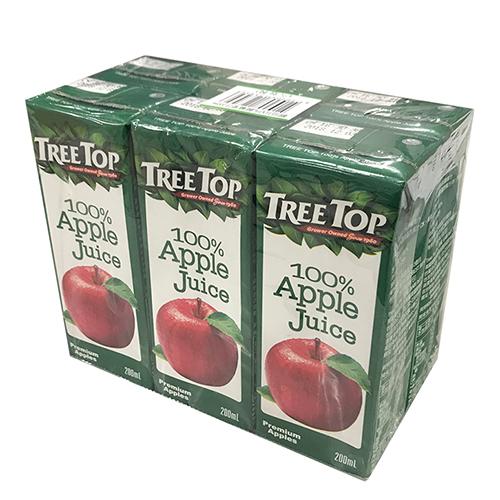 樹頂TreeTop100%蘋果汁200ml*6入